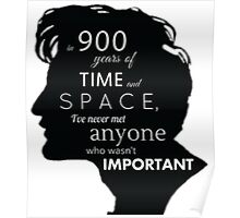 In 900 Years of Time and Space Poster