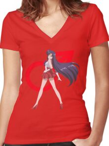 Sailor Mars Crystal III Women's Fitted V-Neck T-Shirt