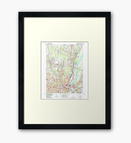 USGS TOPO Map Connecticut CT Hartford North 330607 1964 24000 Framed Print