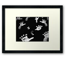 Shadow in the Crowd Framed Print