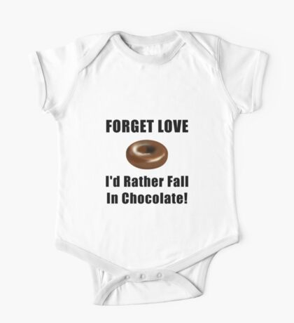 Forget Love Chocolate One Piece - Short Sleeve