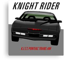Knight Rider Pontiac Trans Am 1982 Canvas Print