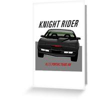 Knight Rider Pontiac Trans Am 1982 Greeting Card