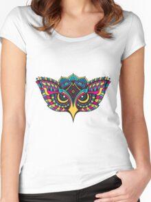 Mandala Owl Women's Fitted Scoop T-Shirt