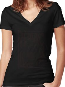 Red Fang Women's Fitted V-Neck T-Shirt