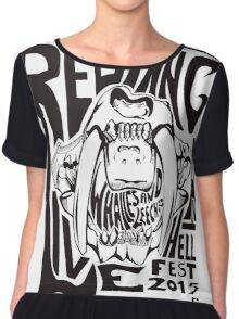 Red Fang Chiffon Top