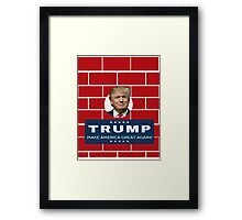 Trump Wall Campaign Framed Print
