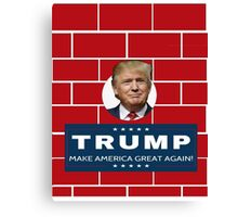 Trump Wall Campaign Canvas Print