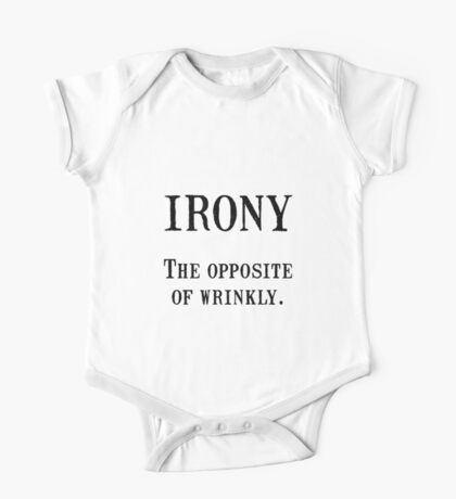Irony Opposite Wrinkly One Piece - Short Sleeve