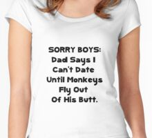 Sorry Boys Women's Fitted Scoop T-Shirt