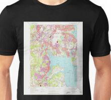 USGS TOPO Map Rhode Island RI East Greenwich 353282 1957 24000 Unisex T-Shirt