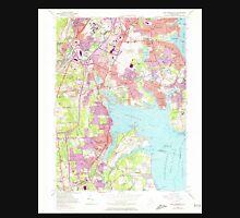 USGS TOPO Map Rhode Island RI East Greenwich 353282 1957 24000 T-Shirt