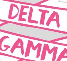 Delta Gamma - Ribbon Pink Sticker