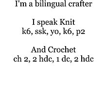 Bilingual crafter Photographic Print