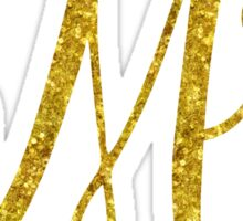 Mr Gold Faux Foil Metallic Glitter Quote Isolated on White Background Sticker