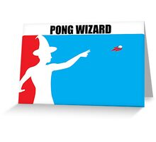 Beer Pong Wizard Greeting Card