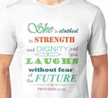 Proverbs 31:25 Scripture Quote Download Print Unisex T-Shirt