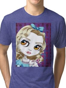 Alice and the White Rabbit Tri-blend T-Shirt