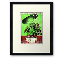 Attack of the Alien Invaders Framed Print