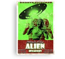 Attack of the Alien Invaders Canvas Print