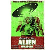 Attack of the Alien Invaders Photographic Print