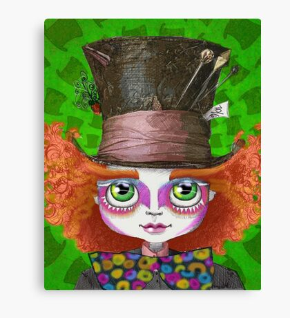 "Johnny Depp as Mad Hatter in Tim Burton's ""Alice in Wonderland"" Canvas Print"