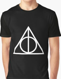 Deathy Hallows pattern Graphic T-Shirt