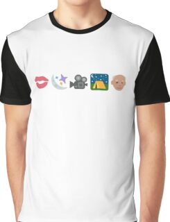 Pentatonix: Can't Sleep Love - Kissin' In The Moonlight Movies On A Late Night Gettin' Old (Emojis) Graphic T-Shirt