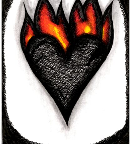 Burning Heart Sticker