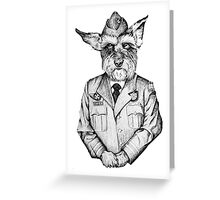 Canadian Military Dog  Greeting Card