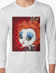 "Helena Bonham Carter as Red Queen in Tim Burton's ""Alice in Wonderland"" Long Sleeve T-Shirt"