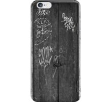 Memphis Graffiti Sequel - Black and White iPhone Case/Skin