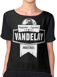 Vandelay Industries Logo Chiffon Top