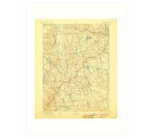 USGS TOPO Map Connecticut CT Gilead 331027 1892 62500 Art Print