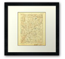 USGS TOPO Map Connecticut CT Gilead 331027 1892 62500 Framed Print