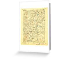 USGS TOPO Map Connecticut CT Gilead 331027 1892 62500 Greeting Card