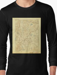 USGS TOPO Map Connecticut CT Gilead 331027 1892 62500 Long Sleeve T-Shirt