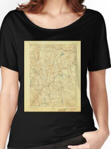 USGS TOPO Map Connecticut CT Gilead 331027 1892 62500 Women's Relaxed Fit T-Shirt