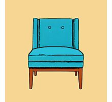 Teal Chair Photographic Print
