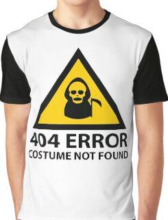 404 Error Costume Not Found Graphic T-Shirt
