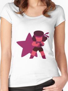 Ruby (Red) Women's Fitted Scoop T-Shirt