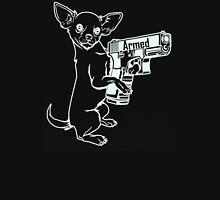 Armed Chihuahua Womens Fitted T-Shirt