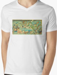 Man vs. Dragon 3 Mens V-Neck T-Shirt