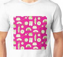 Kimono Girl - Pink & Green Unisex T-Shirt
