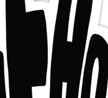 Peace (black) Sticker