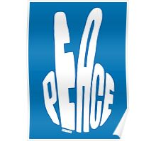 Peace (white) Poster