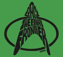 Star Trek Final Frontier (Black) Kids Tee