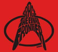 Star Trek Final Frontier (Black) Baby Tee