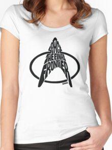 Star Trek Final Frontier (Black) Women's Fitted Scoop T-Shirt
