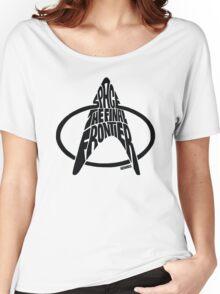 Star Trek Final Frontier (Black) Women's Relaxed Fit T-Shirt